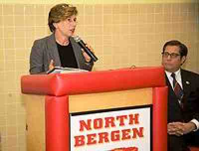 Press conference at No. Bergen High School