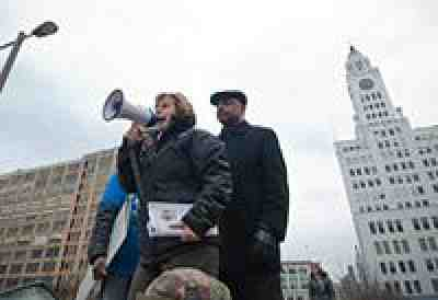 Weingarten at Philadelphia Rally, March 2013